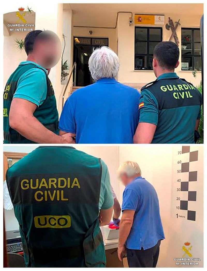 Detención del holandés Johannes Fasen, en Calp (Alicante). EFE