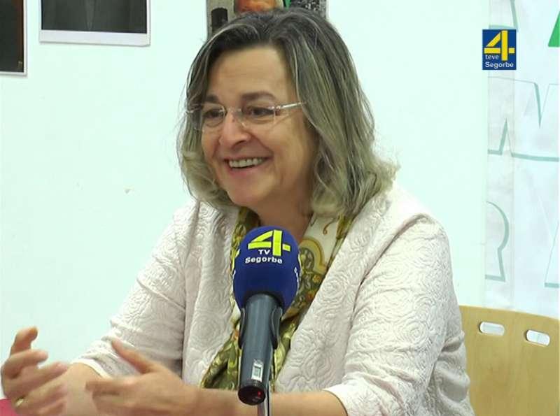 Gemma Fajardo en una conferencia en Segorbe