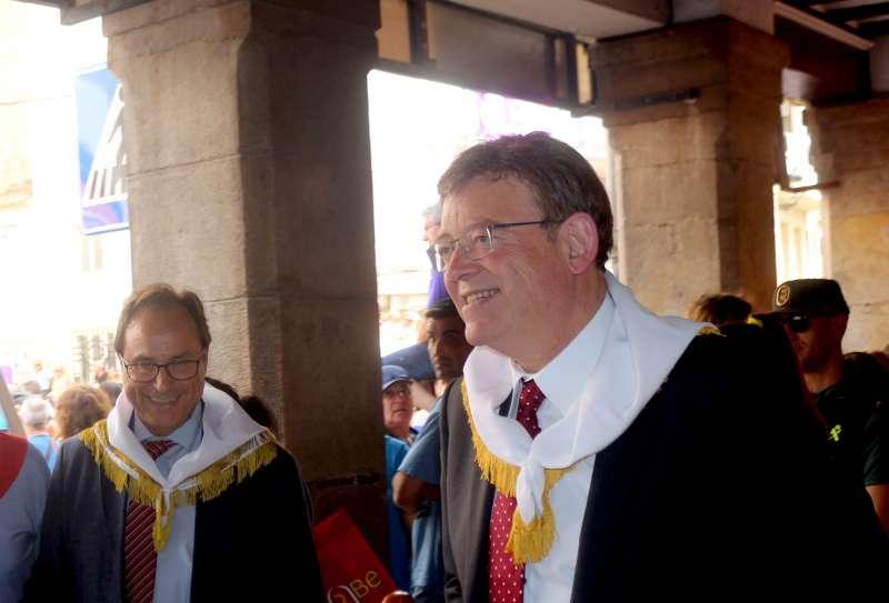 Ximo Puig en su visita a Segorbe el pasado día 6