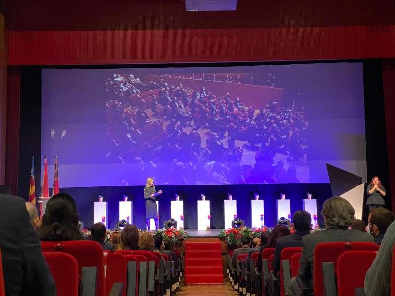 Momento de la Gala de entrega de Premios Paterna Ciudad de Empresas. epda