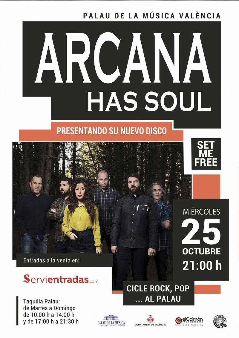 Cartel del concierto de Arcana Has Soul del Camp de Morvedre. EPDA
