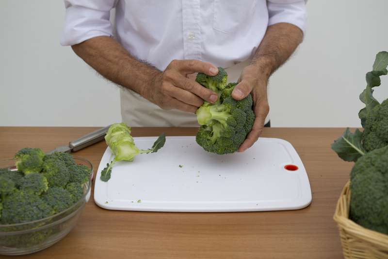 Preparación brócoli.