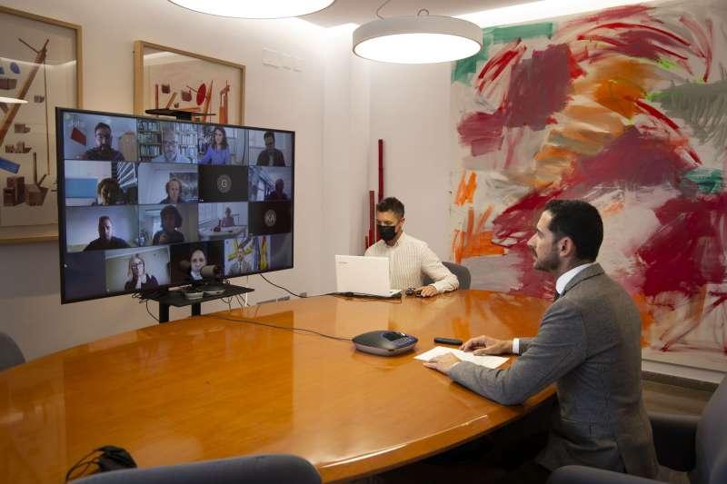 Reunión de trabajo en el Ayuntamiento de Mislata. EPDA