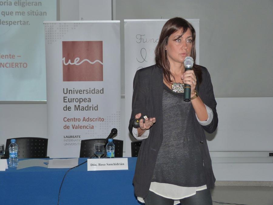Sonia Sánchez en la jornada de AFAV y Fundación Cuadernos Rubio. FOTO EPDA
