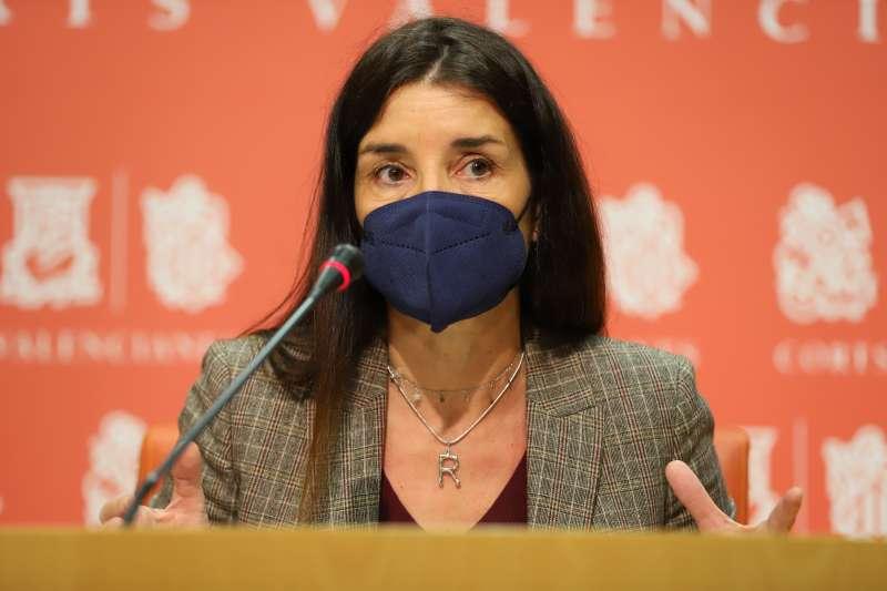 Ruth Merino, síndica de Ciudadanos, en Les Corts valencianas.