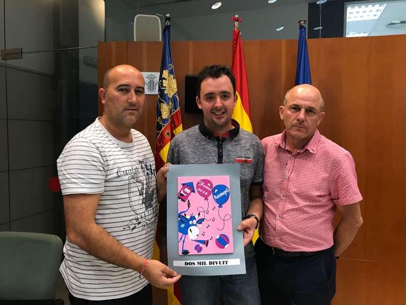 Gómez, March i Galarza, amb la samarreta. EPDA