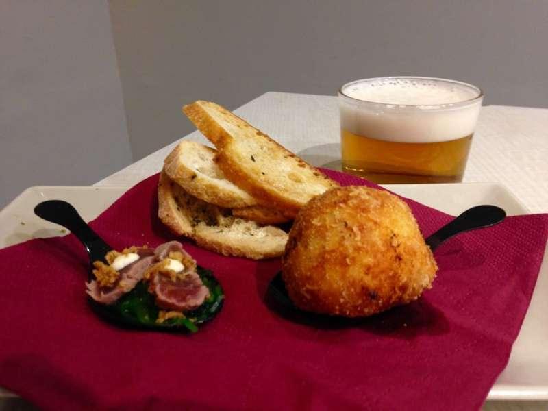 Un ejemplo de tapa y caña que podemos degustar en Riba-roja este fin de semana