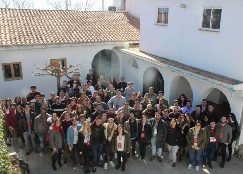 Miembros de Joves Socialistes del País Valencià (JSPV)