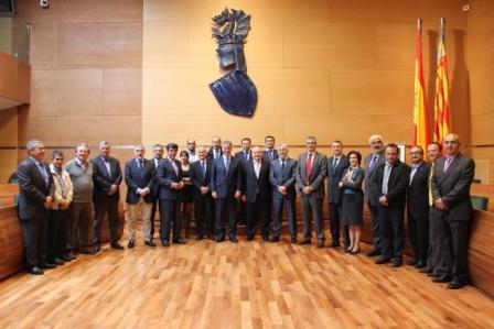 Asistantes a la asamblea general de la Asociación de Consorcios y Servicios de Bomberos de España. FOTO: DIVAL