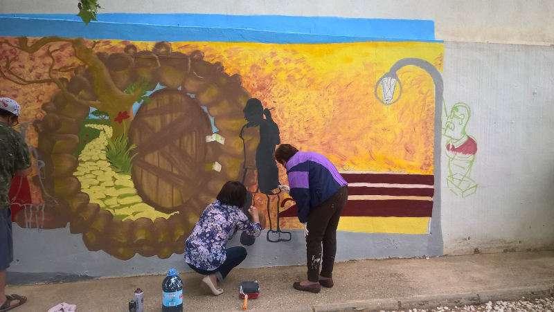 Pintura mural en Torrent. EPDA