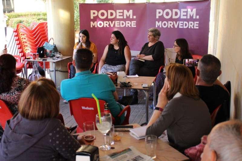 Acto de las candidatas de Podemos Sagunt. EPDA