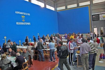 Imagen durante la comida en la celebración del Trofeu de Pilota en El Puig.