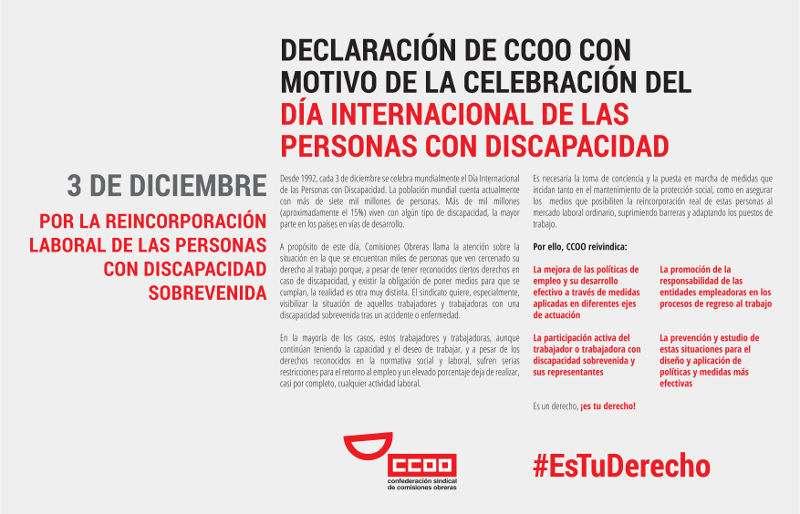 Celebración del Día Internacional de las Personas con Discapacidad. EPDA