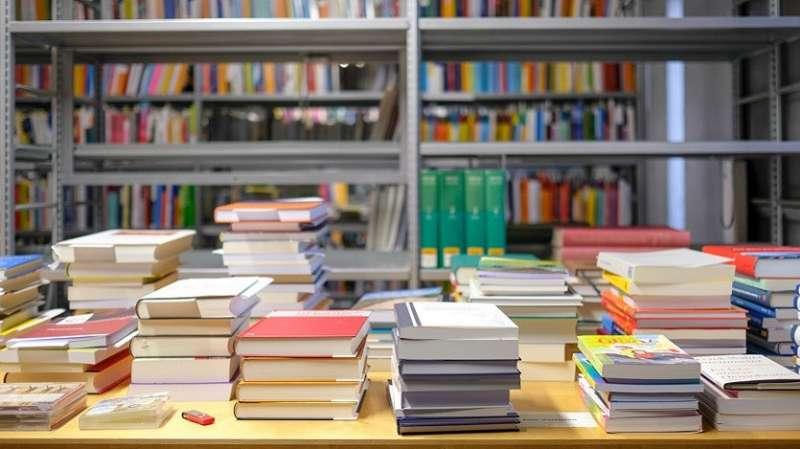 Llibres exposats en una llibreria. EPDA.