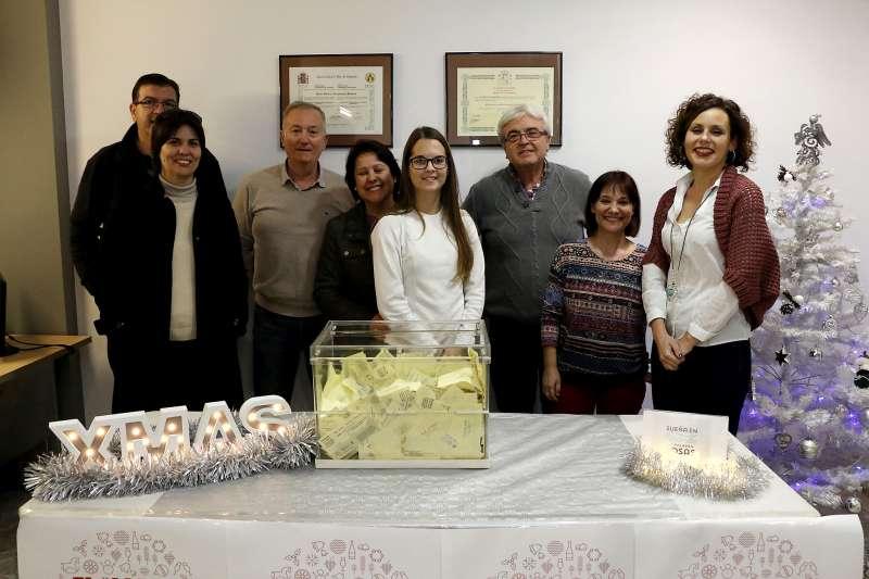 El sorteig de Nadal celebrat a ACEP, a Puçol. Foto EPDA