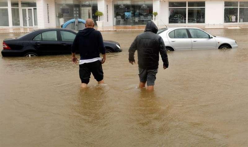 Una de las imágenes que dejó en Xàbia (Alicante) el temporal de lluvia y viento registrado el pasado mes de abril en la Comunitat Valenciana. EFE/Cárdenas/Archivo