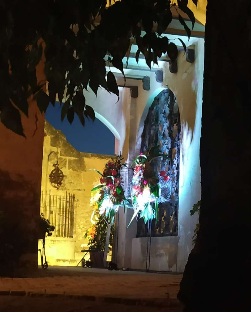 Detalle floral en Castillo de Benissanó. / EPDA