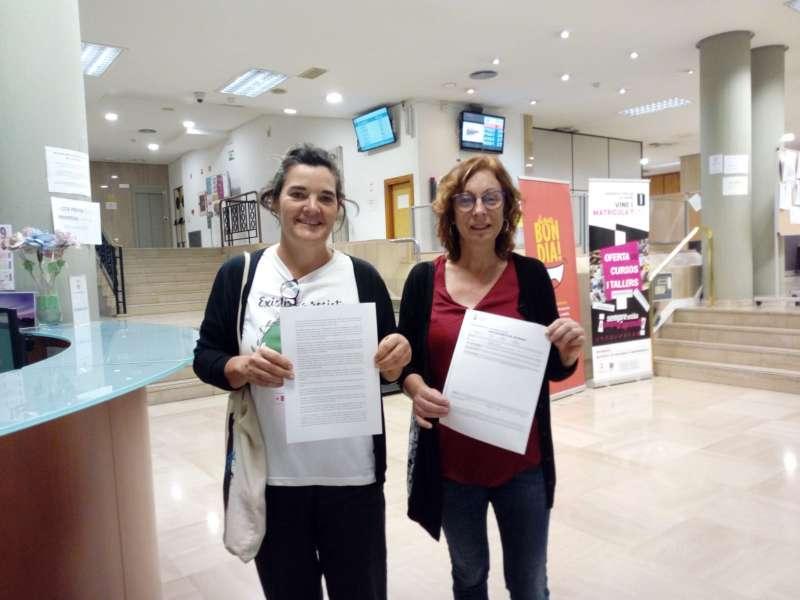 Presentación del escrito en el Ayuntamiento de Sagunt. EPDA
