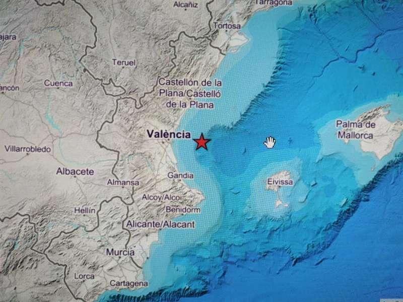 Imagen publicada por el Instituto Geográfico Nacional (IGN) sobre el lugar donde se ha producido el terremoto.