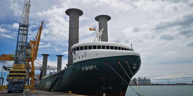 El buque E-Ship 1 en el puerto de Sagunt. EPDA