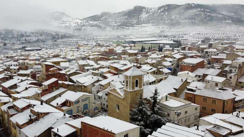 Higueruelas nevado tras la borrasca Filomena. / EPDA