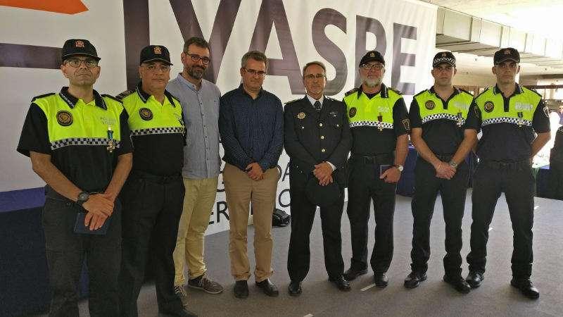 Policía LOcales de Xirivella condecorados. EPDA