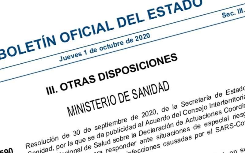 BOE que recoge el nuevo acuerdo del Gobierno con las comunidades. EPDA