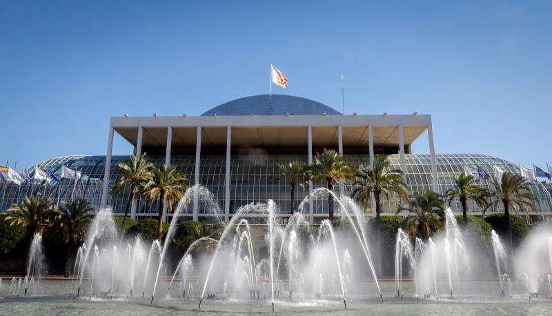 Vista general esta mañana del Palau de la Música, que acogerá el espectáculo del humorista Dani Mateo. EFE