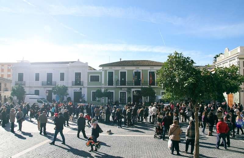 Plaza del pueblo de Paterna. EPDA