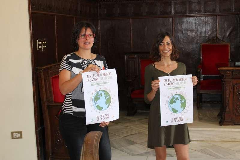La concejala de Medio Ambiente y la representante de Acció Ecologista-Agró en la presentación de la feria. EPDA