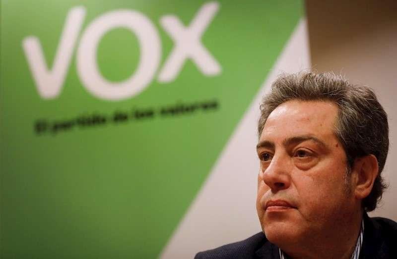 El portavoz adjunto de Vox en Les Corts Valencianes José María Llanos. EFE/Archivo