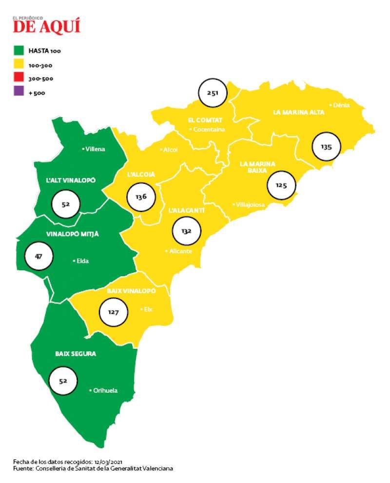 Mapa incidencia/EPDA