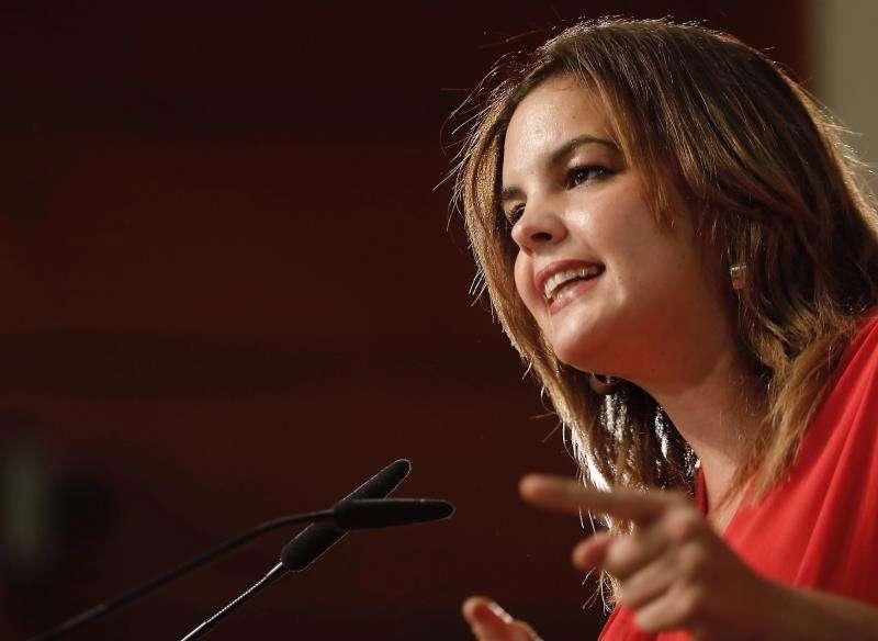 Sandra Gómez, actual teniente de alcalde y portavoz socialista del Ayuntamiento de València. Fot EFE.