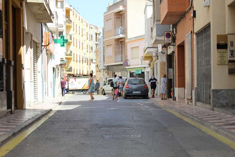 Calle comercial de Almussafes