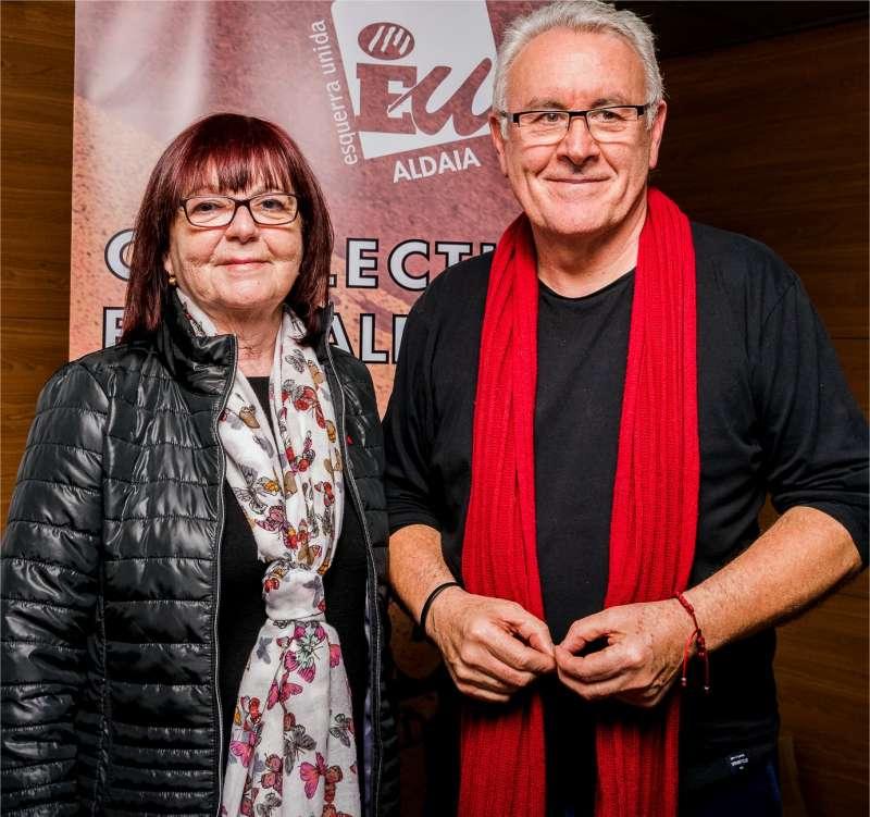 Cayo Lara y  M.ª Ascensión Torrijos, Coordinadora de Esquerra Unida de Aldaia. EPDA