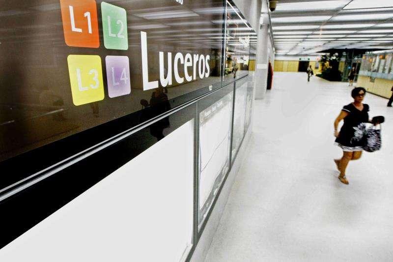 Imagen de la estación de Luceros, en la línea L2 del tranvía metropolitano de Alicante (TRAM). EFE/Archivo