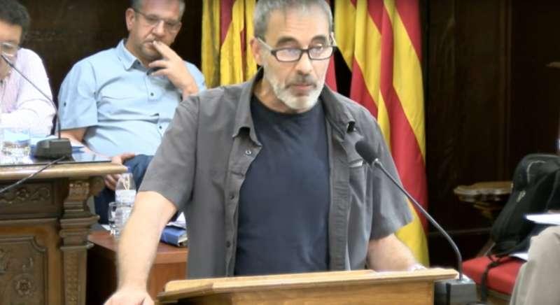 El concejal de Urbanismo, Pablo Abelleira, en el pleno. EPDA