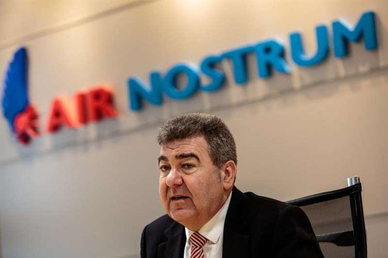El presidente de Air Nostrum, Carlos Bertomeu, en una imagen de archivo. EFE/ Biel Aliño