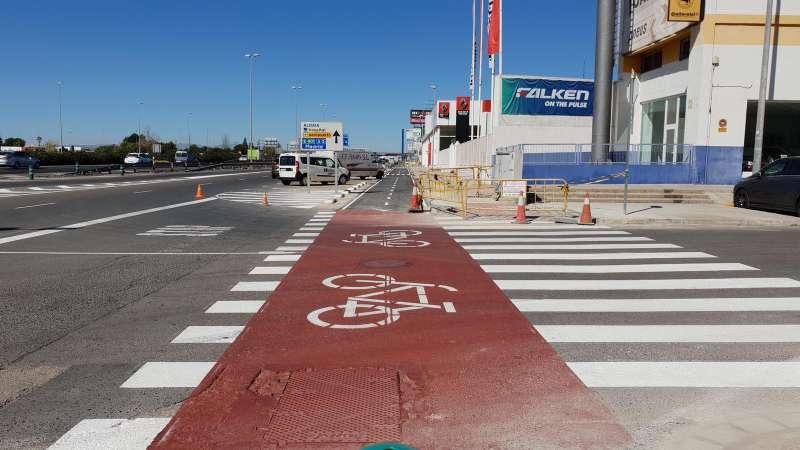 Carril bici en Quart. EPDA
