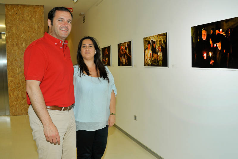 Muniesa y Sáez en la exposición. EPDA
