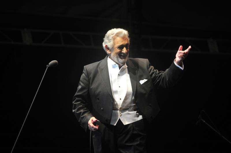 El tenor español Plácido Domingo durante una reciente actuación en México. EFE/Archivo