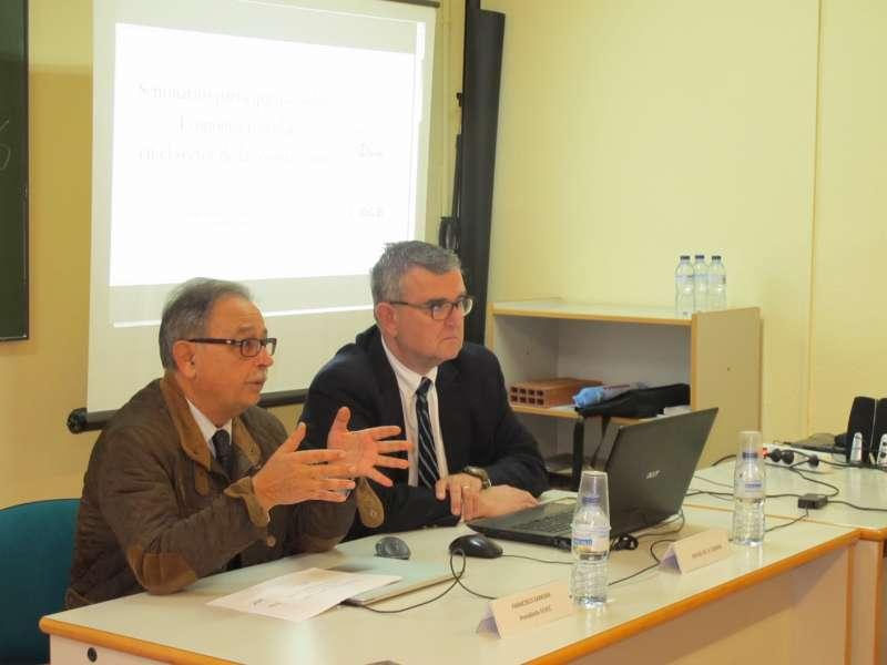Francisco Zamora, presidente de Fevec y Rafael de la Cuadra, experto en Economía Circular. EPDA