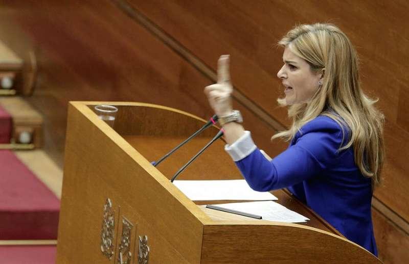La secretaria general del PPCV, Eva Ortiz. EFE/Manuel Bruque/Archivo.