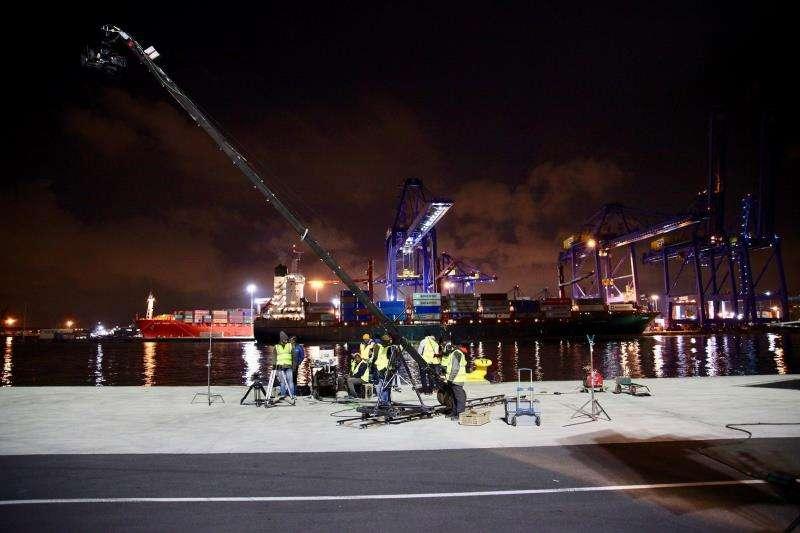 Una imagen del rodaje, facilitada por el puerto. EFE