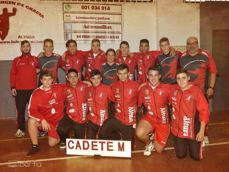 Equipo cadete del Club Balonmano Altura