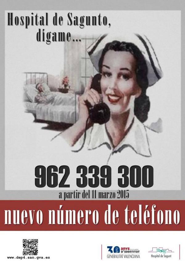 telefono hospital sagunto