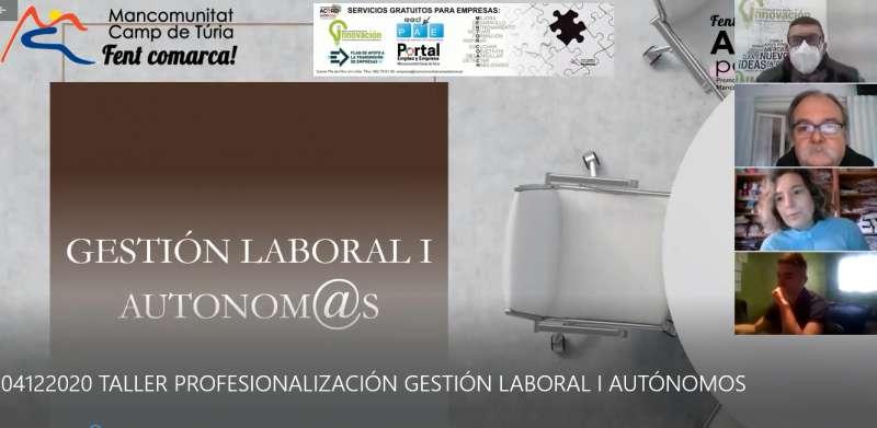 Cartel de los talleres online de la Mancomunitat./ EPDA