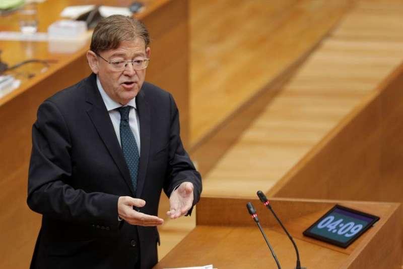 El president de la Generalitat, Ximo Puig, durante un pleno de Les Corts. EFE/Archivo