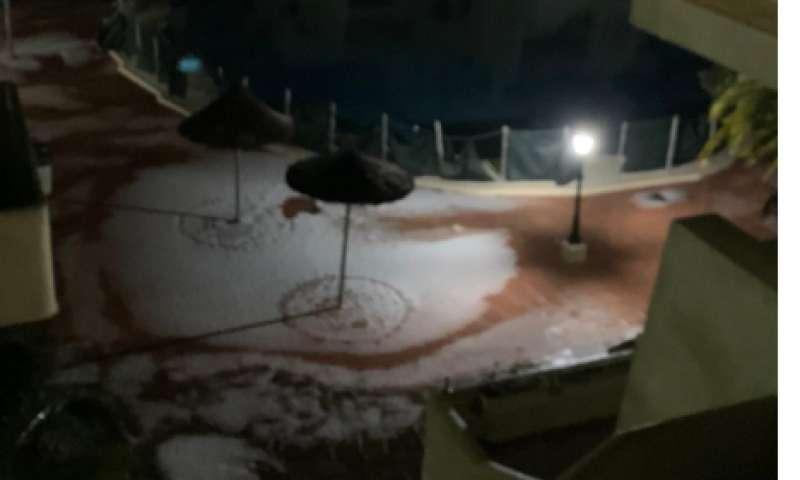 Nieve en Las Gavinas. EPDA