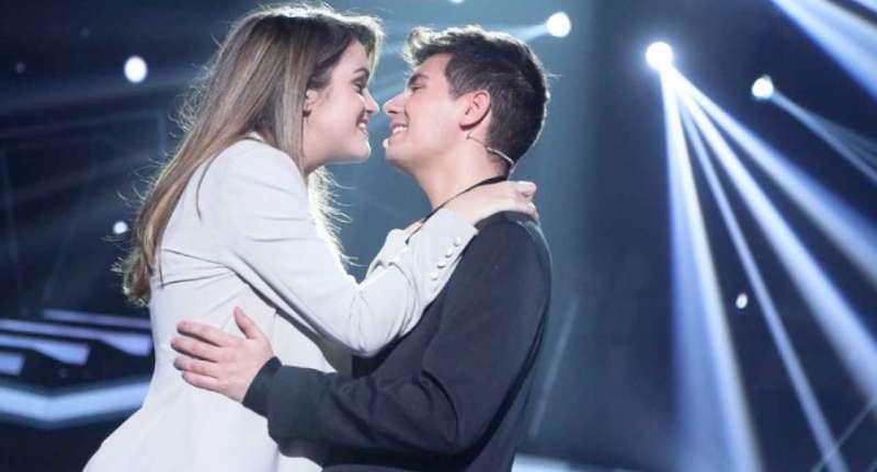 Amaia y Alfred, al terminar su actuación en Eurovisión, sin beso. FOTO RTVE.ES